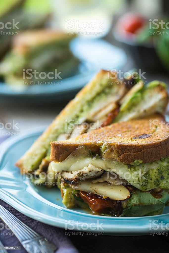 Grilled Chicken Sandwich stock photo