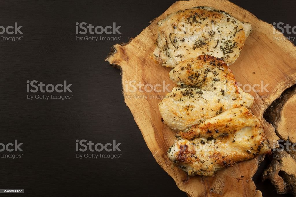 Grilled chicken steak. Dietary food for athletes stock photo