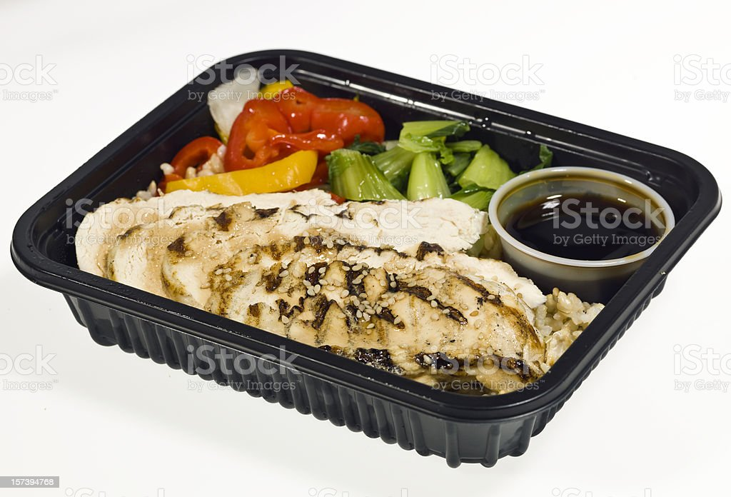 Grilled Chicken Teriyaki Dinner stock photo