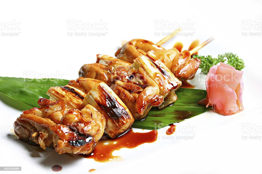 Grilled Chicken Teriyaki Sauce. stock photo