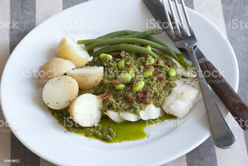 Grilled cod royalty-free stock photo