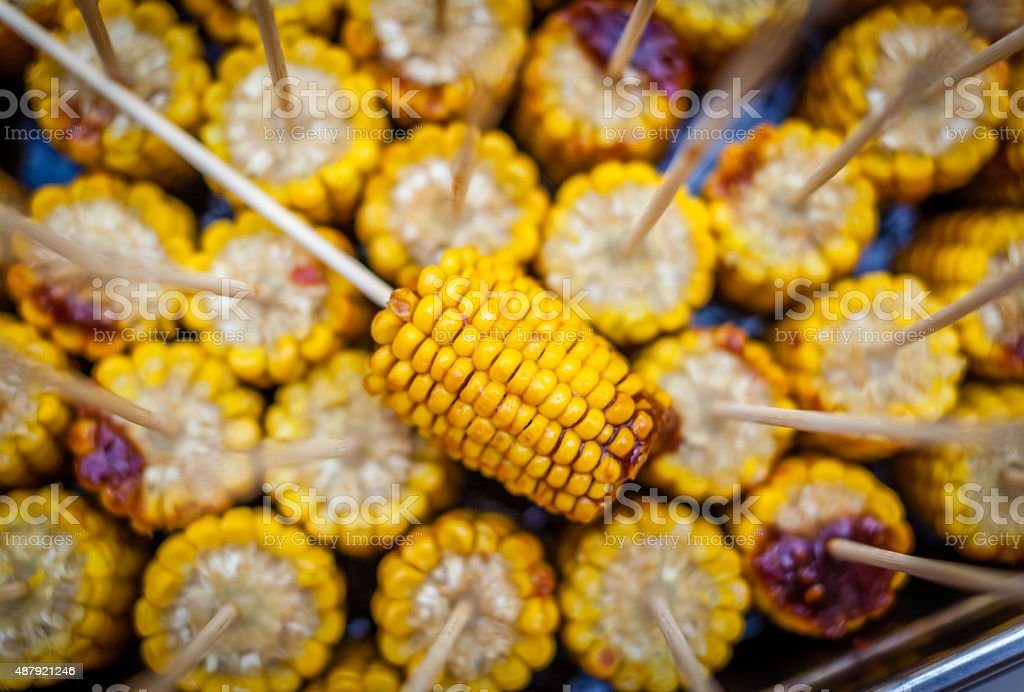 Grilled corn stock photo