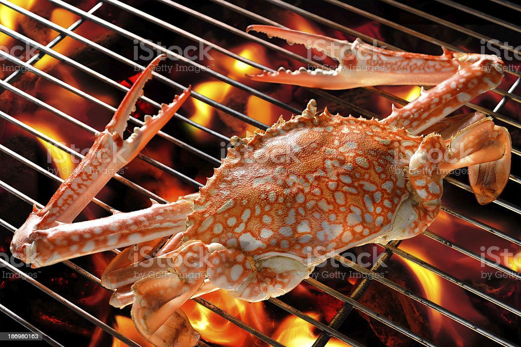 Grilled crab royalty-free stock photo