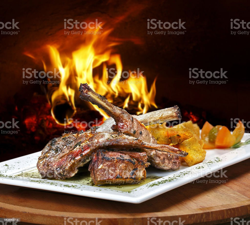 Grilled Cutlets royalty-free stock photo