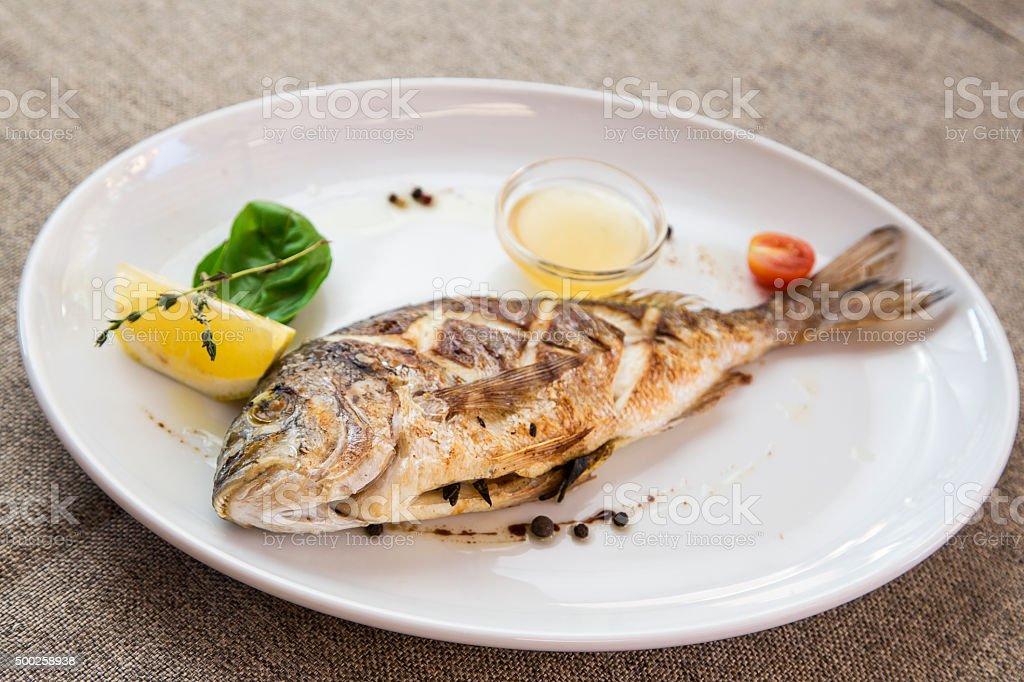 grilled dorado stock photo