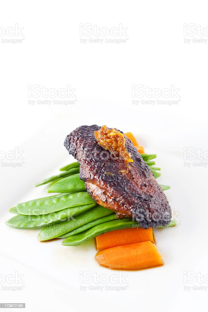 Grilled Duck stock photo