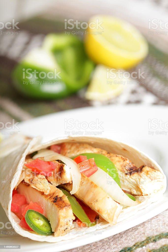 Grilled fajitas burrito royalty-free stock photo