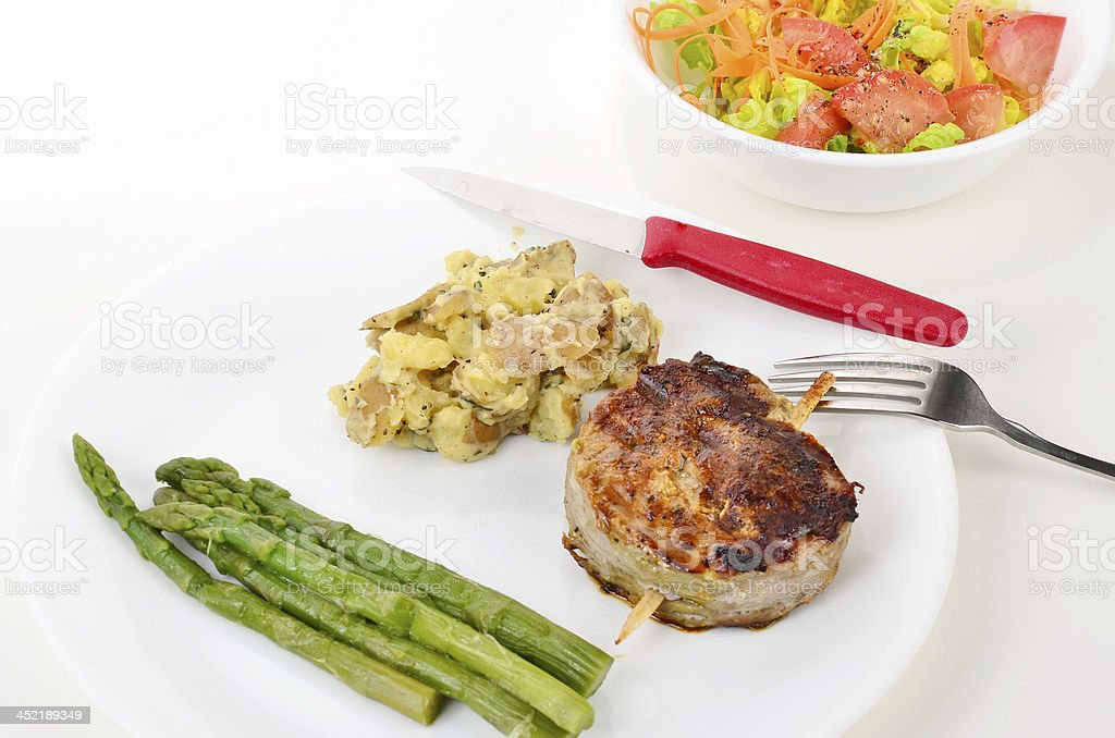 Grilled Filet Dinner royalty-free stock photo