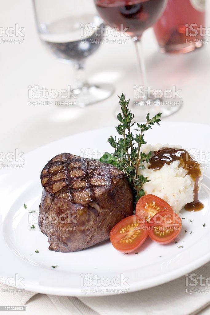 Grilled Filet Mignon stock photo