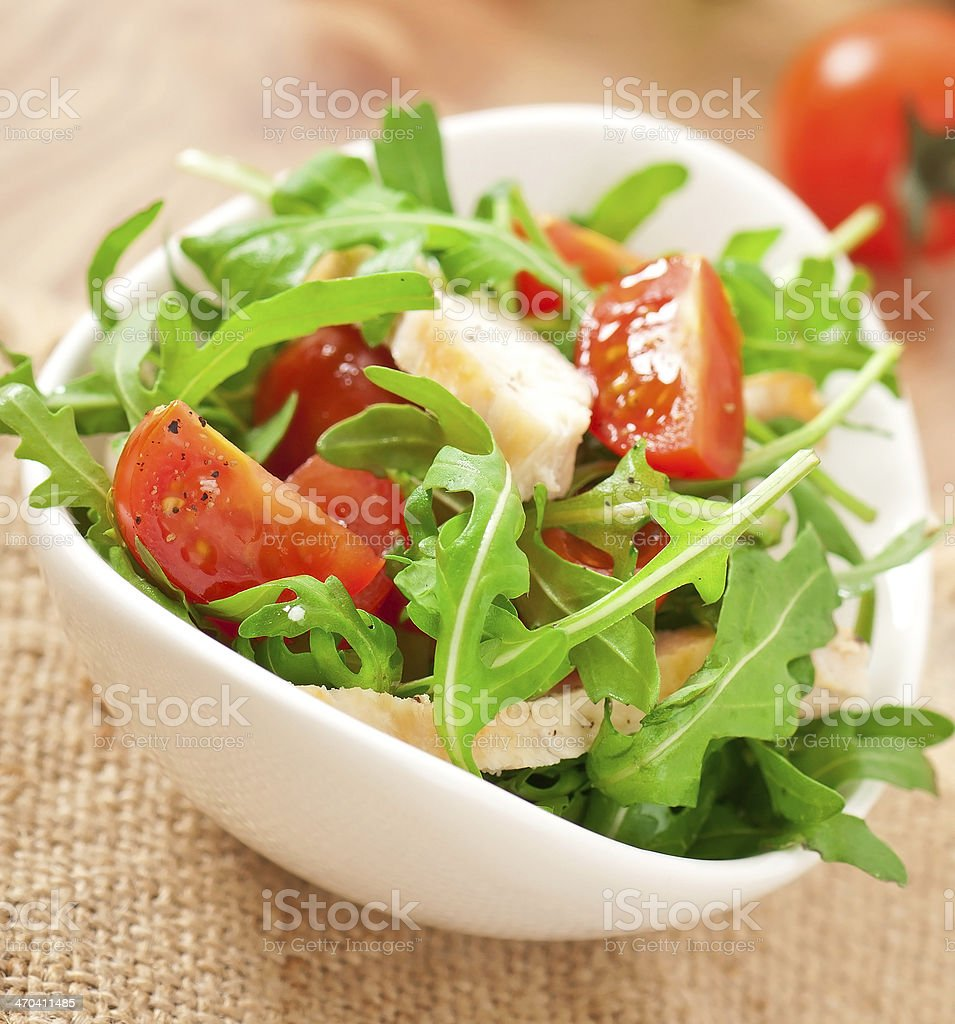 Grilled fillet of chicken and salad royalty-free stock photo