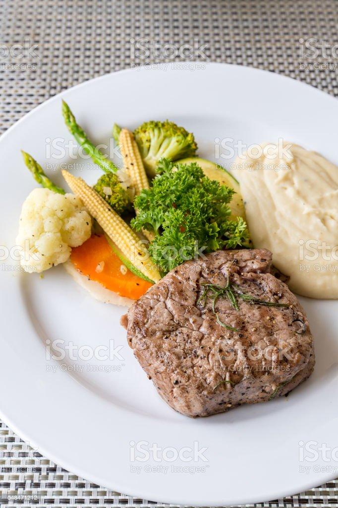 grilled fillet steak stock photo