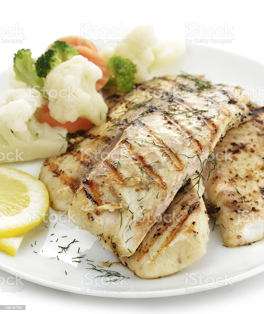 Grilled Fish Fillet stock photo