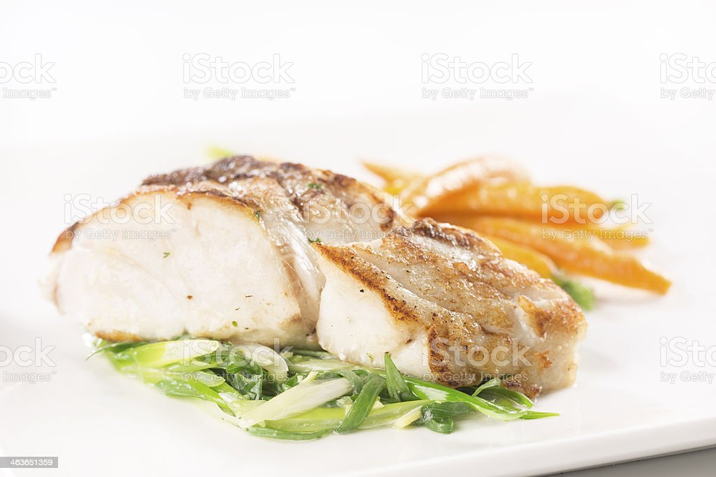 Grilled fish fillet royalty-free stock photo
