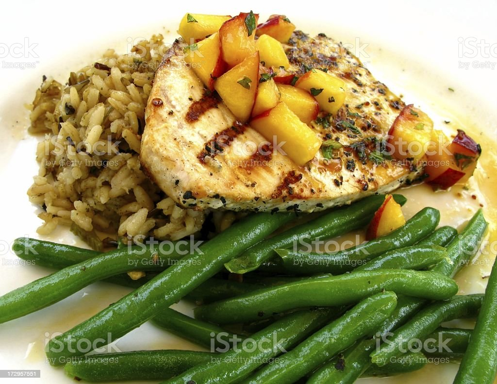 Grilled Fish or Chicken royalty-free stock photo