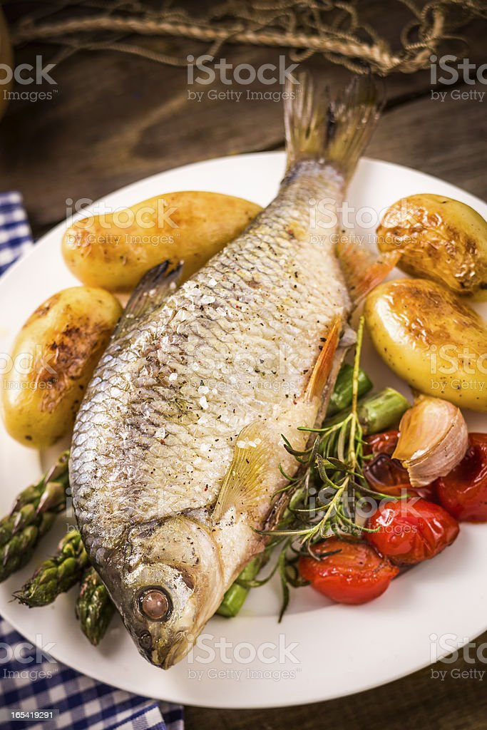 Grilled Fish royalty-free stock photo