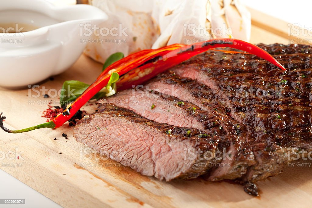 Grilled Flank Steak stock photo