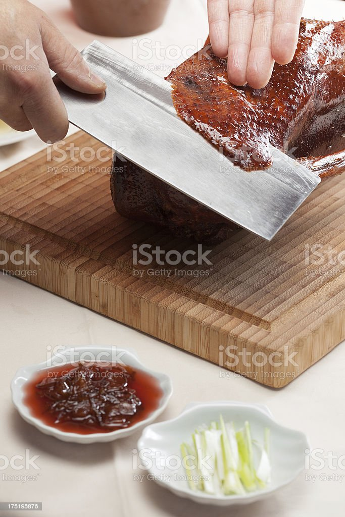 grilled goose stock photo