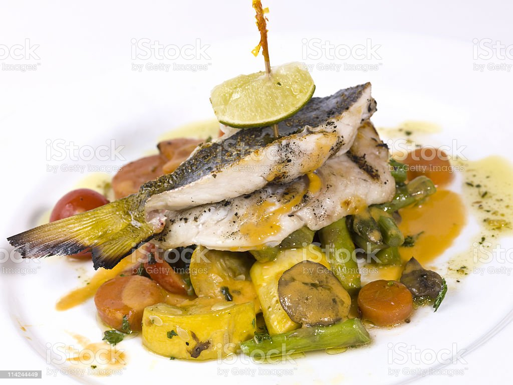 Grilled Grouper royalty-free stock photo