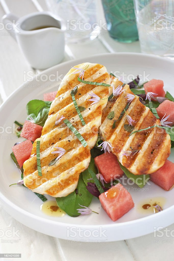Grilled Halloumi Salad royalty-free stock photo