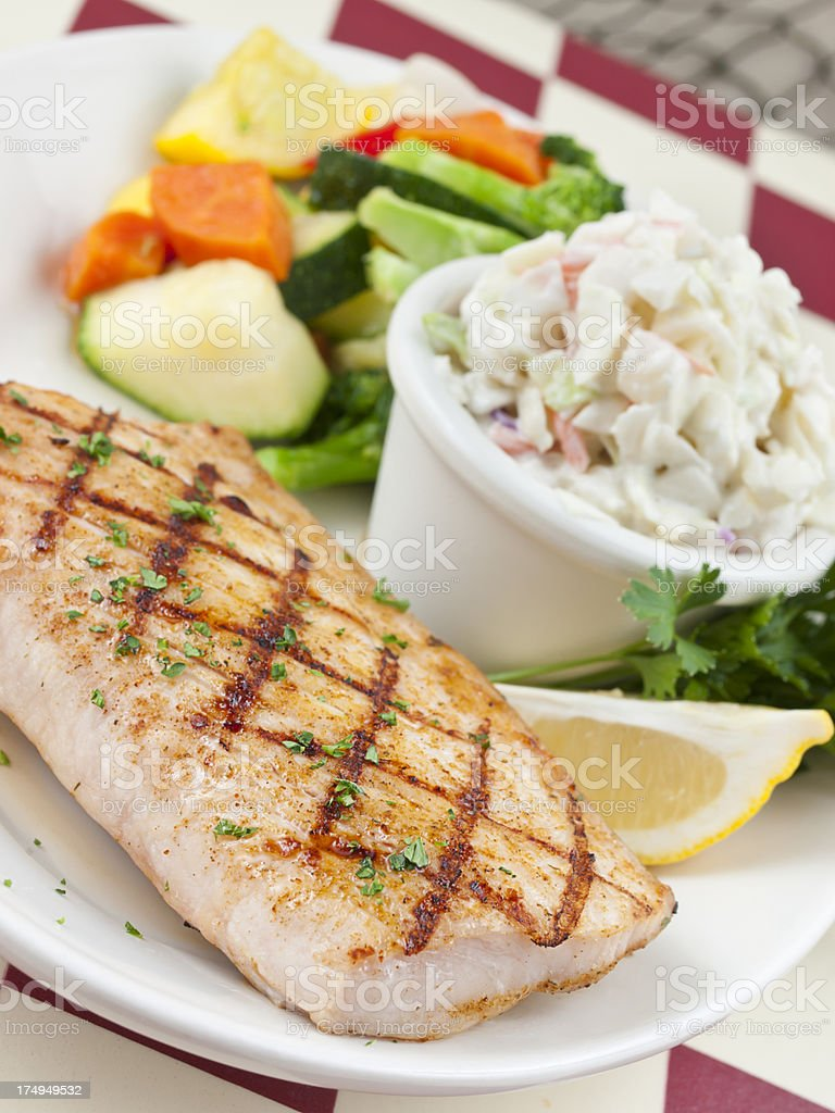 Grilled Healthy Fish royalty-free stock photo