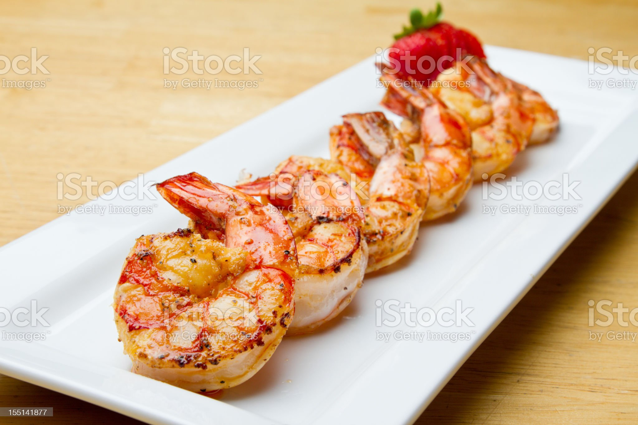 Grilled Jumbo Shrimp royalty-free stock photo