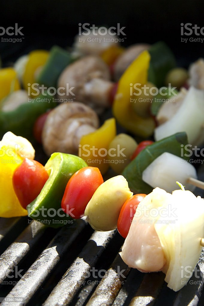 Grilled Kebabs royalty-free stock photo