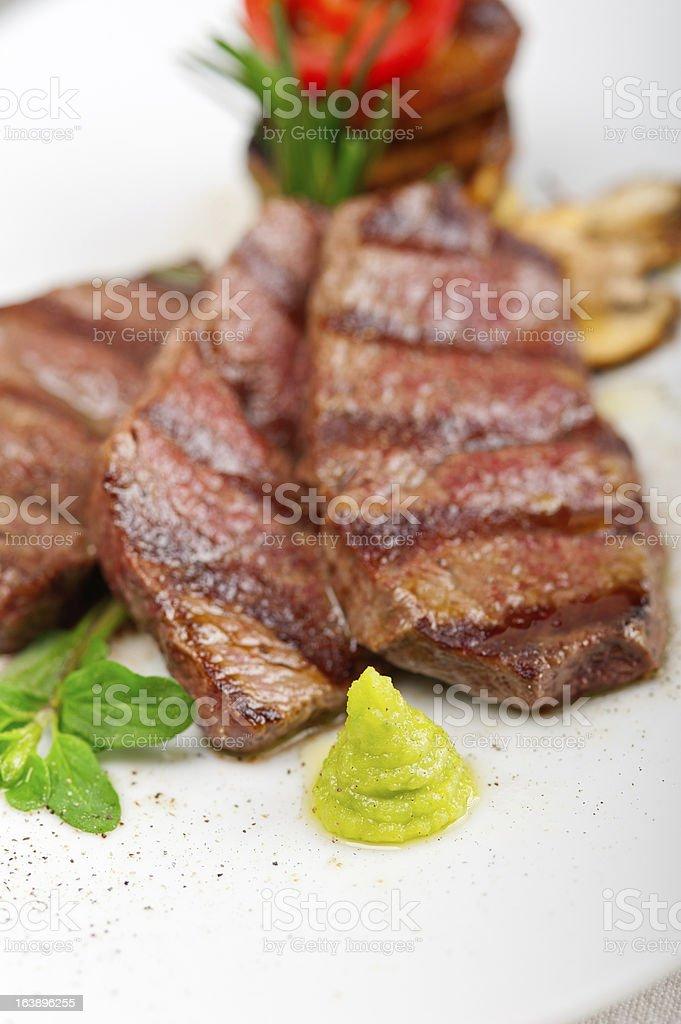 grilled Kobe Miyazaky beef royalty-free stock photo