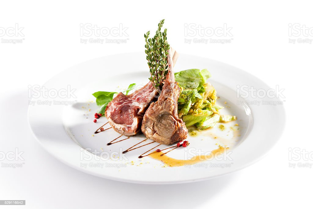 Grilled Lamb Chop stock photo