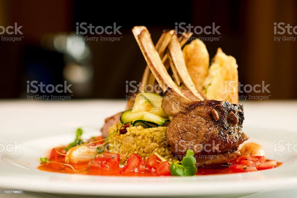 Grilled lamb royalty-free stock photo