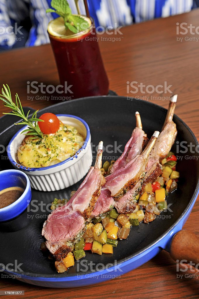 Grilled Lamb steak royalty-free stock photo