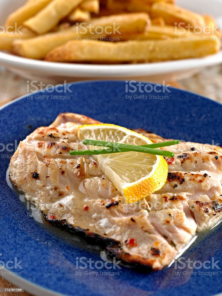 Grilled Mahi stock photo