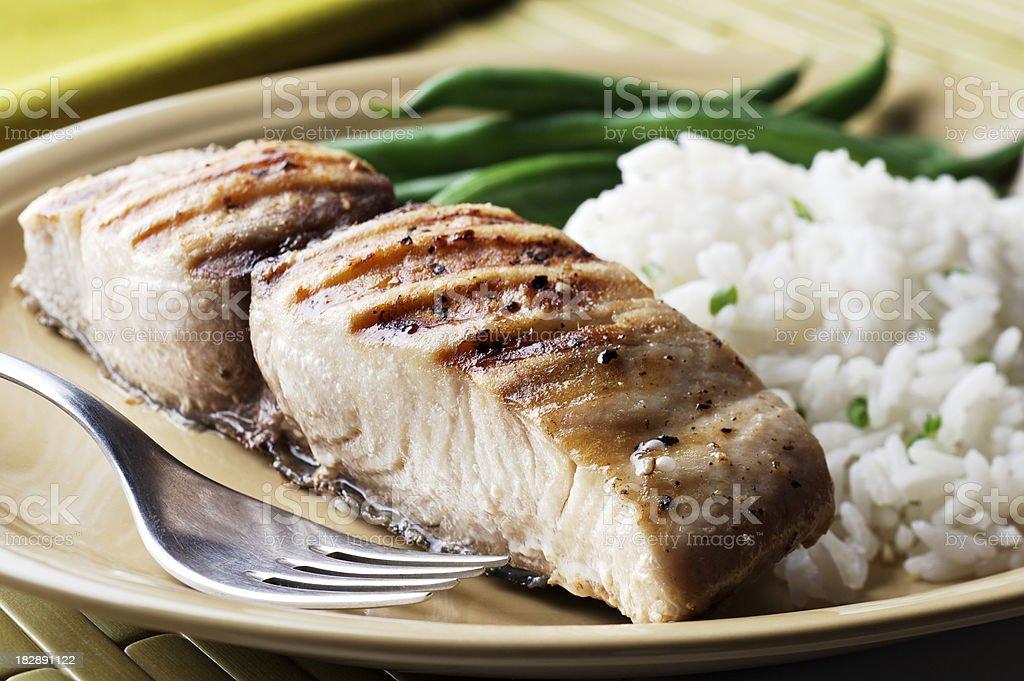 Grilled Mahi-Mahi stock photo