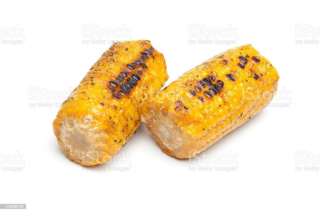 Grilled mais cobs stock photo