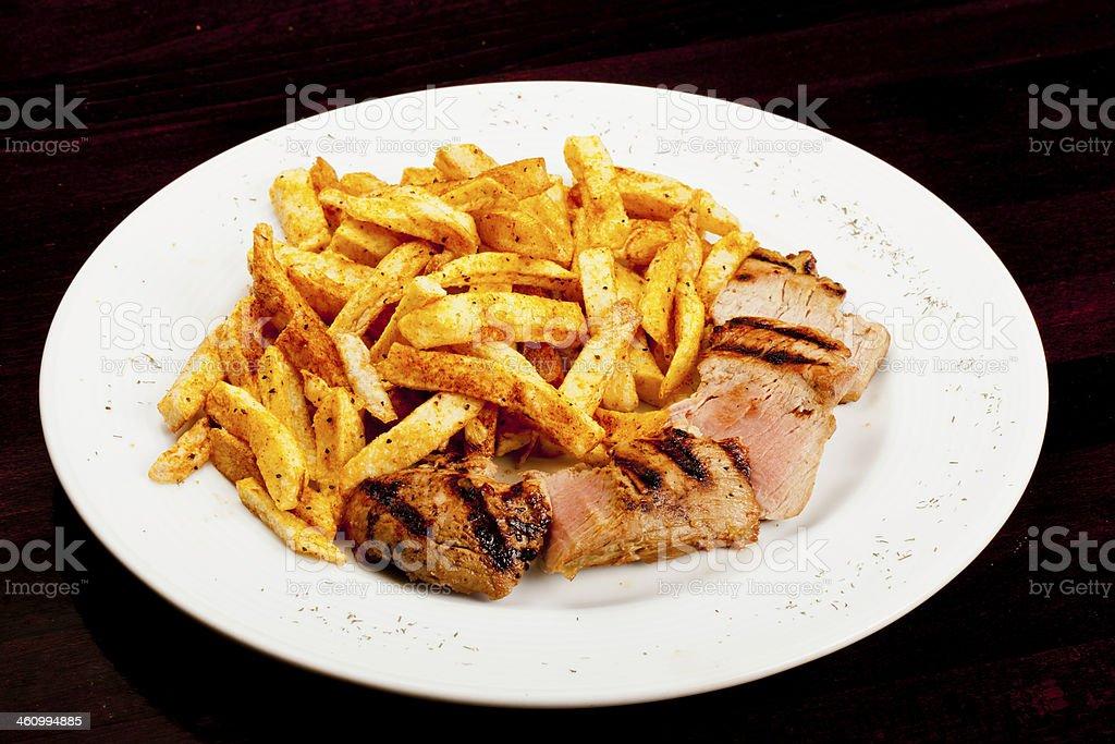 Grilled Marinated Pork stock photo