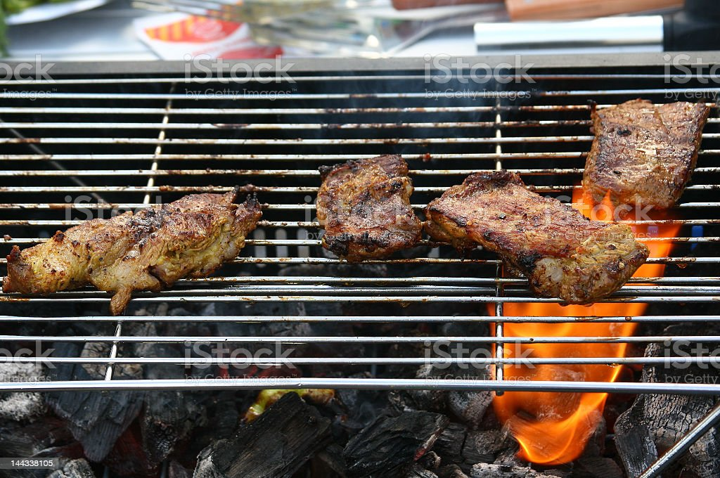 BBQ grilled meat royalty-free stock photo