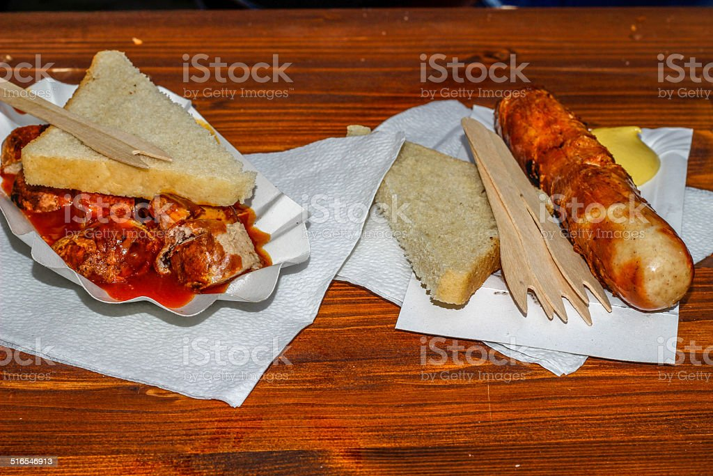 grilled meat sausages royalty-free stock photo