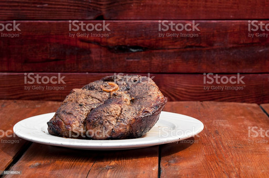 Grilled meat steak stock photo