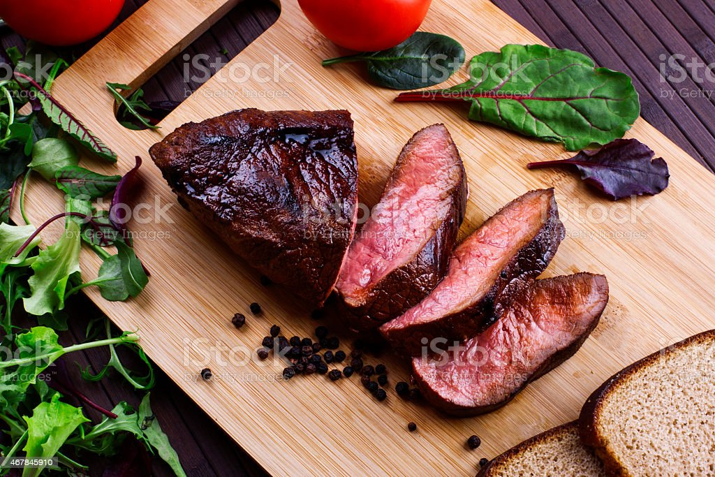Grilled meat - Stock Image stock photo