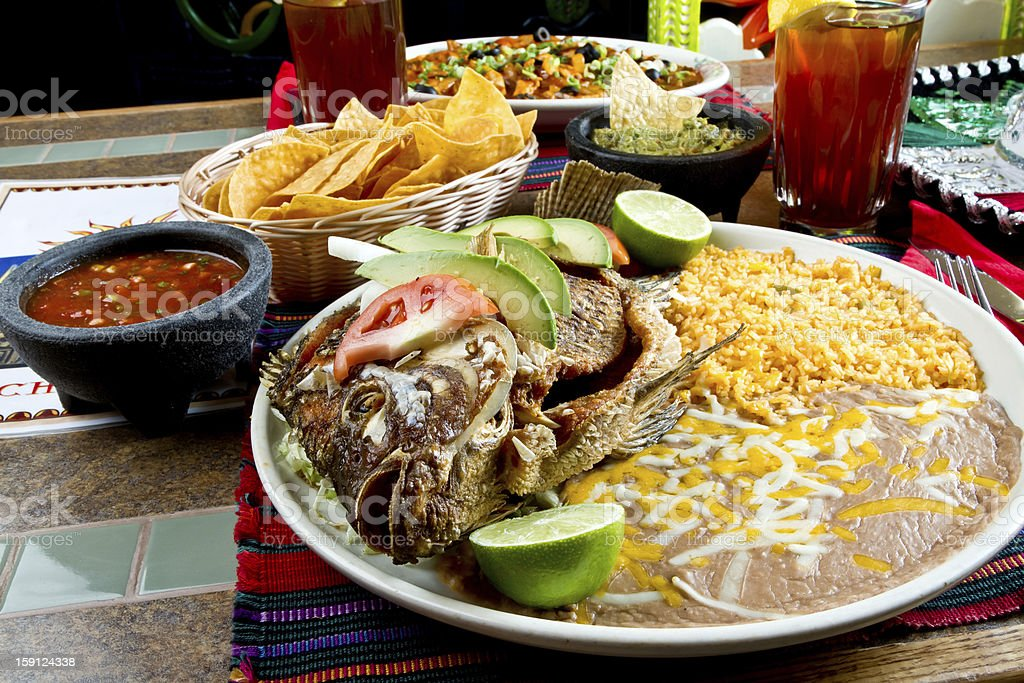 Grilled Mexican Talapia royalty-free stock photo