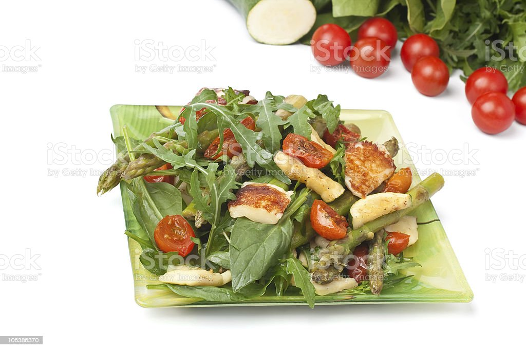 grilled mozzarella and vegetables salad royalty-free stock photo