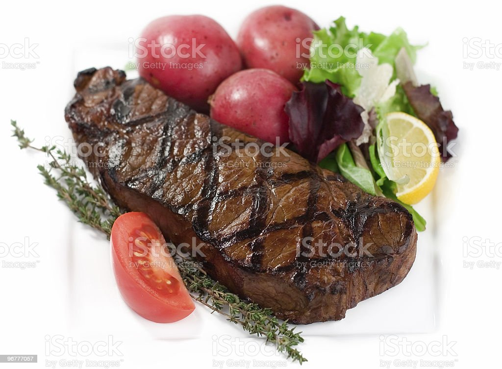 Grilled New York royalty-free stock photo