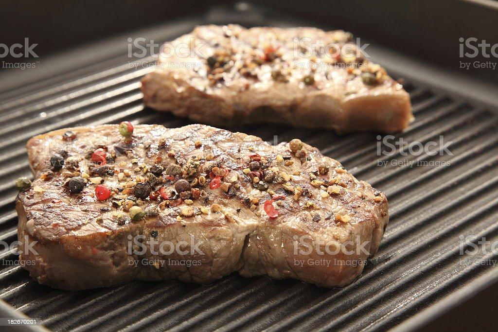 grilled new york steak stock photo