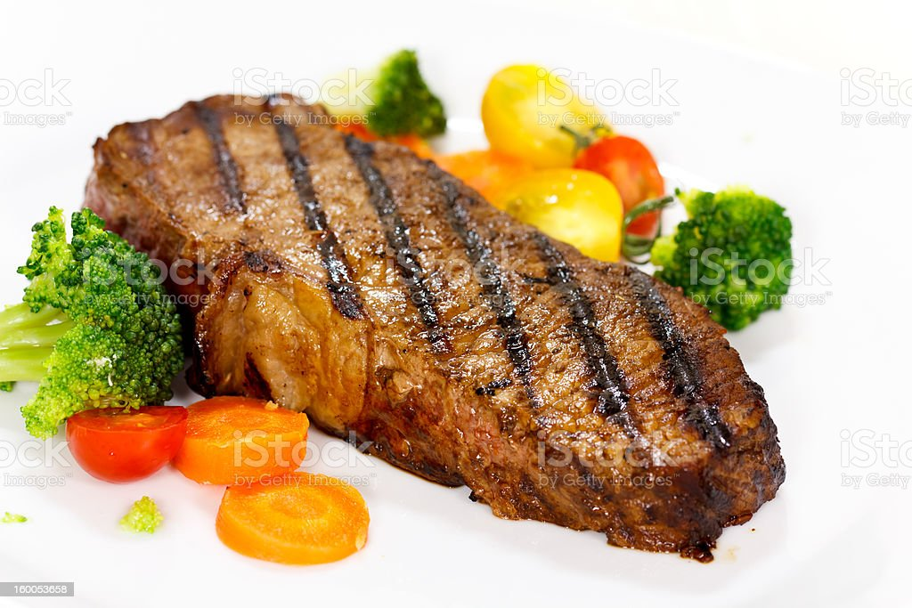 Grilled New York Strip Steak stock photo