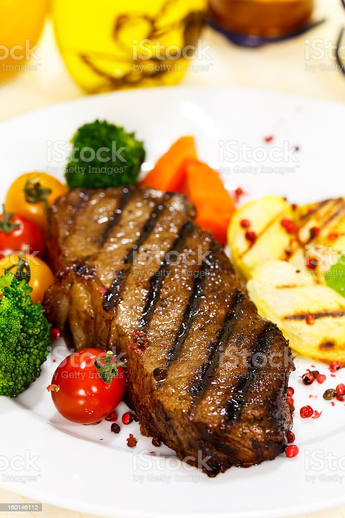 Grilled New York Strip Steak royalty-free stock photo