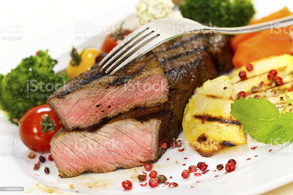 Grilled New York Strip Steak royalty-free stock photo