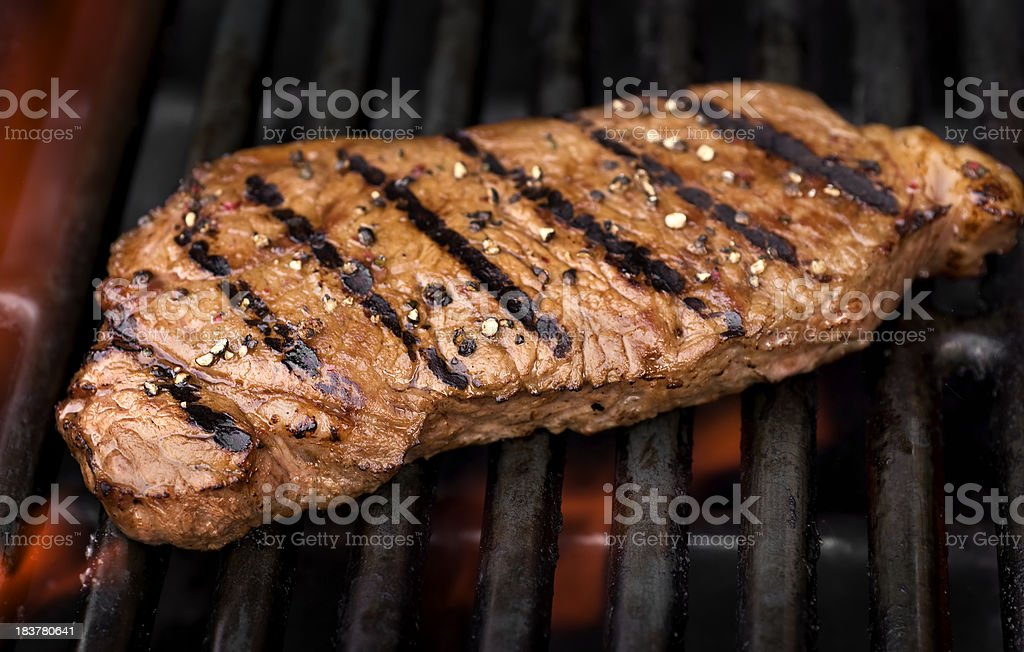 Grilled NY Strip stock photo