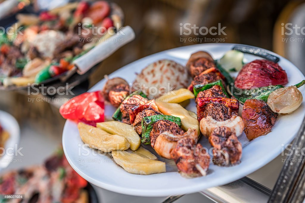 Grilled  On A White Plate stock photo
