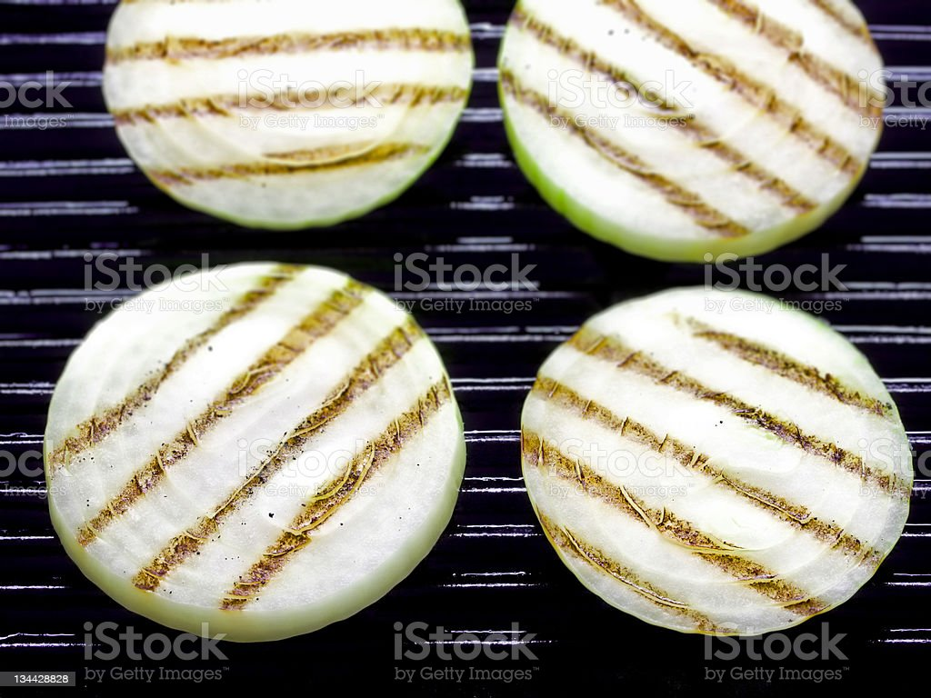 grilled onions royalty-free stock photo