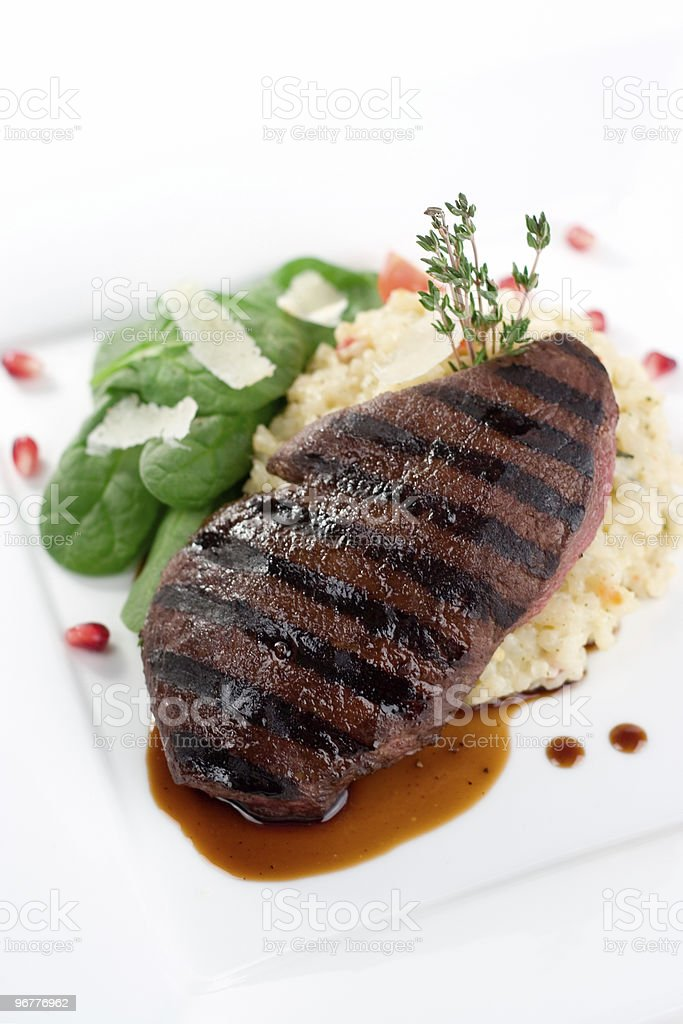 Grilled Ostrich Sirloin royalty-free stock photo