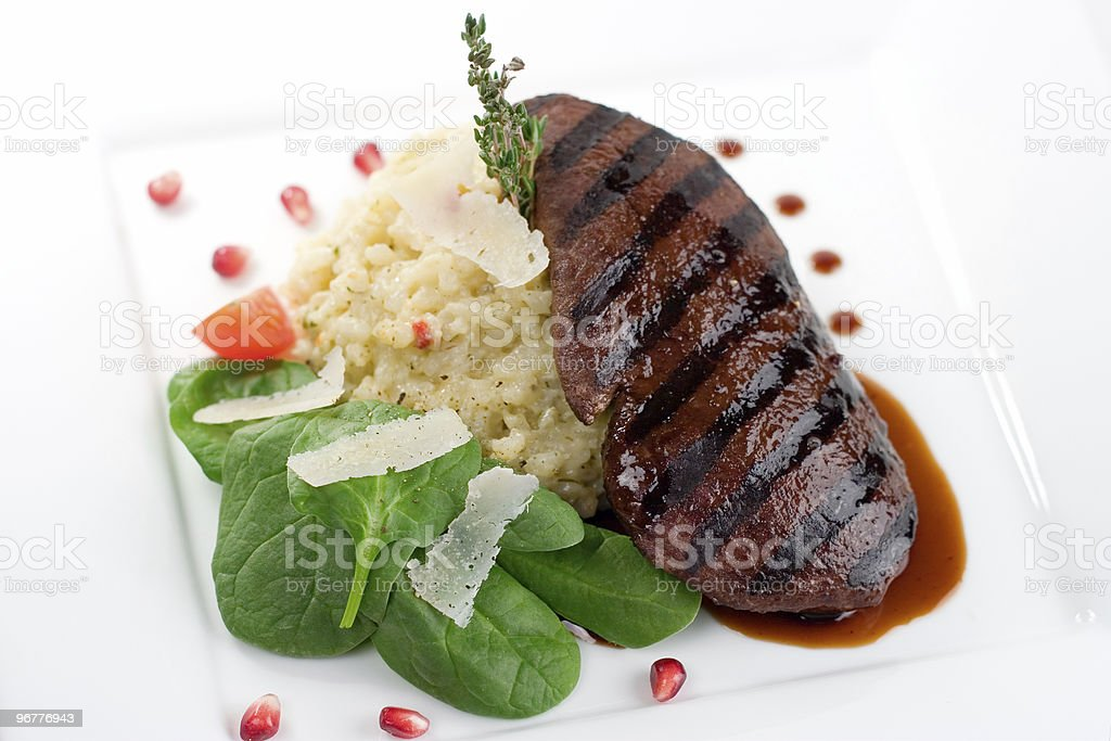 Grilled Ostrich Steak royalty-free stock photo